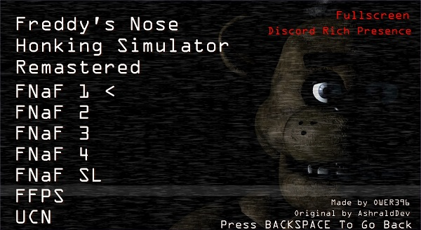 Freddy's Nose Honking Simulator Remastered