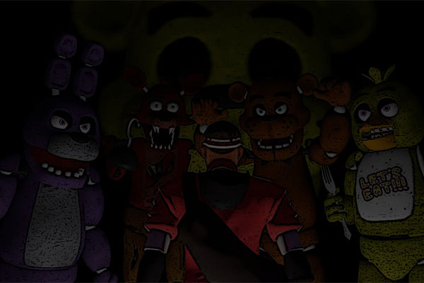 Five Freddys At Night Game